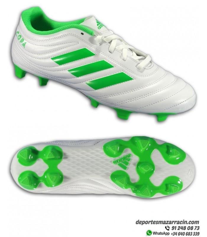 828578d814b Adidas COPA 19.4 FG Bota Futbol Tacos Blanco Verde