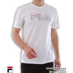 Camiseta FILA LARGE LOGO TEE Blanco Algodón