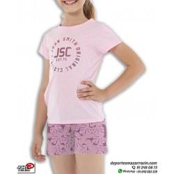 Conjunto Camiseta + Short Niñas John Smith FLAN Rosa