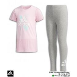 Conjunto Camiseta + Malla ADIDAS TEE TIGHT Niñas Rosa