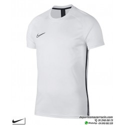 Camiseta Deporte NIKE DRY FIT ACADEMY Blanco-Negro Poliester