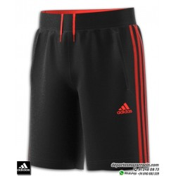 Pantalón Corto ADIDAS Junior YP 3S SHORT Negro-Rojo