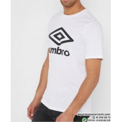 Camiseta UMBRO LARGE LOGO COTTON TEE Blanco Hombre