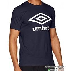 Camiseta UMBRO LARGE LOGO COTTON TEE Azul Marino Hombre