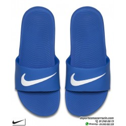 Chancla Nike KAWA SLIDE Azul con Gris junior