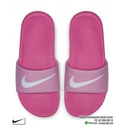 Chancla Chica Nike KAWA SLIDE Rosa con Blanco