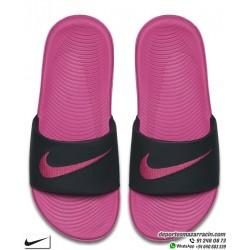Chancla Chica Nike KAWA SLIDE Rosa con Negro