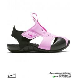 Sandalia Niña Nike SUNRAY PROTECT 2 infantil Rosa-Negro