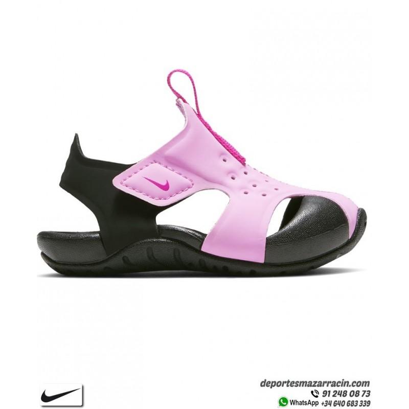 Sandalia Niña Nike SUNRAY PROTECT 2 infantil Rosa Negro