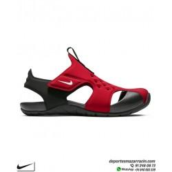 Sandalia Nike SUNRAY PROTECT 2 junior Niño Rojo-Negro