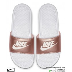 Chancla Nike BENASSI JDI WOMAN Blanco con Bronce