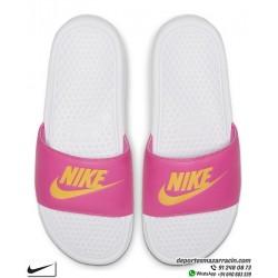 Chancla Nike BENASSI JDI WOMAN Blanco con Rosa