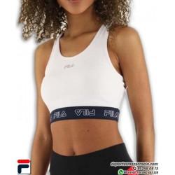 TOP deportivo marca FILA modelo MOA en color Blanco con logo en Negro Sujetador bra 687158