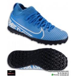 Nike MERCURIAL SUPERFLY 7 Club Niños Azul Bota Fútbol Turf