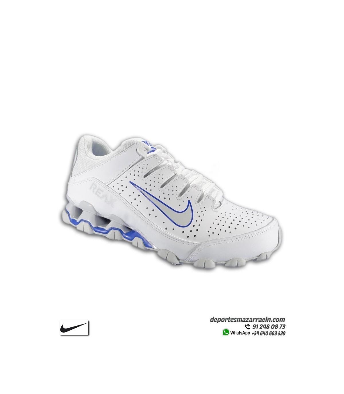 deseo microondas Volverse  Zapatilla con Muelles Nike REAX 8 TR Piel Blanca