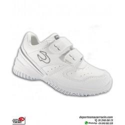 Zapatilla Deporte para NIÑO marca John Smith modelo CUNIN con cierre de Velcro color Blanco Deportiva para tenis, padel