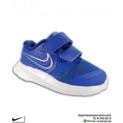Zapatilla Deporte infantil niño NIKE STAR RUNNER 2 Velcro azul TDV AT1803-400