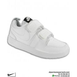Zapatilla Niño Nike PICO 5 TDV color Blanco deportiva clasica uniforme escolar infantil junior AR4161-100