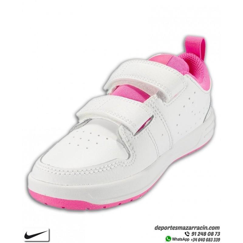 Zapatilla Nike PICO 5 PSV Niña Blanca Rosa