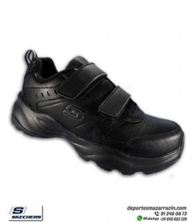 Deportiva Skechers Hombre HANIGER CASPI 2 Velcros Piel Negra