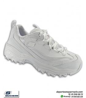 Zapatilla Skechers D'LITES Color Crome Blanco 80578LWHT