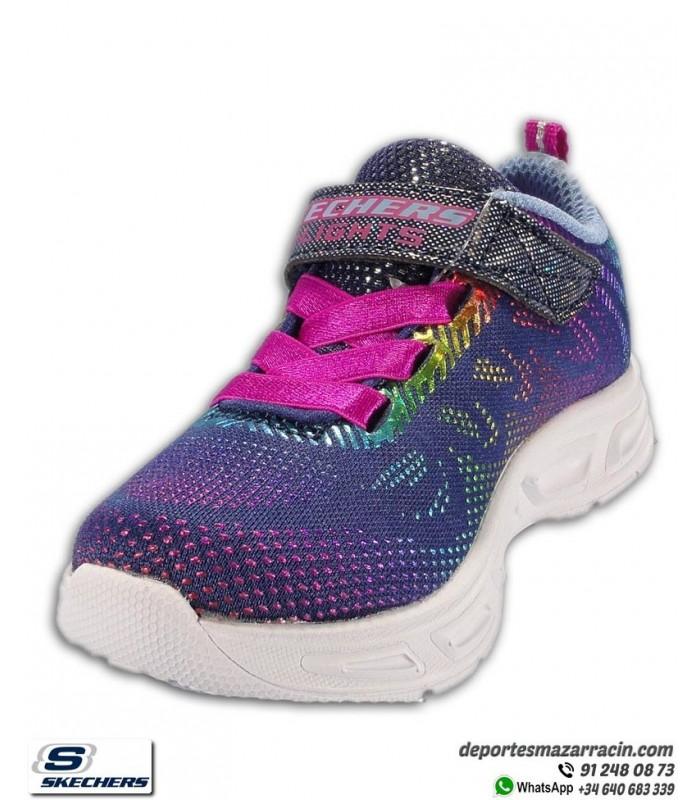 Zapatilla Skechers Niña Pequeña LITEBEAMS GLEAM N DREAM con luces Azul