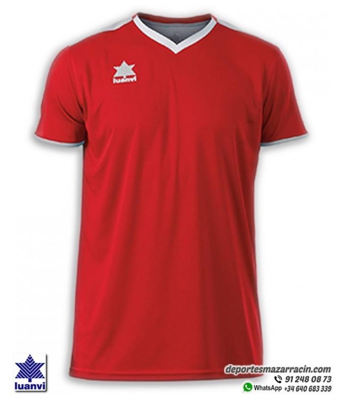 Hombre Luanvi Match Camiseta Deportiva de Manga Corta