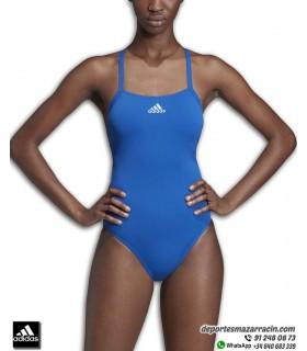 Bañador Adidas de Natación para Mujer PERF SWIM INF+ en color AZUL con lycra infinitex
