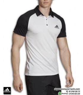 Polo de deporte para hombre ADIDAS modelo CLUB CB en color Blanco-negro tejido Climalite