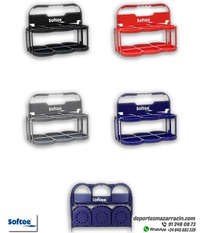 Portabotellas Plegable Deluxe De 6 Color Gris Softee