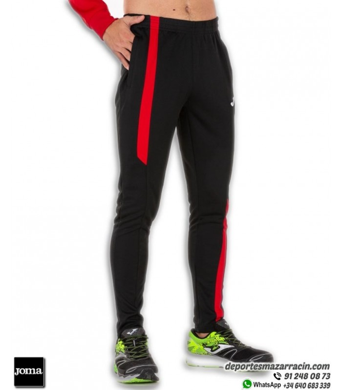 Pantalon Chandal Ajustado Joma Supernova Pants Negro Rojo
