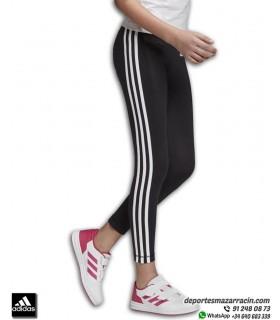 Malla Chica ADIDAS YG E 3 STRIPES TIGHT Color Negro con Blanco referencia DV0367