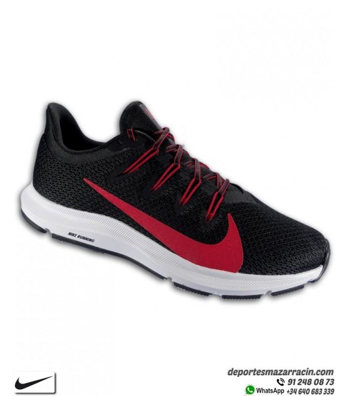 Zapatilla Running Nike QUEST 2 Negro-Rojo