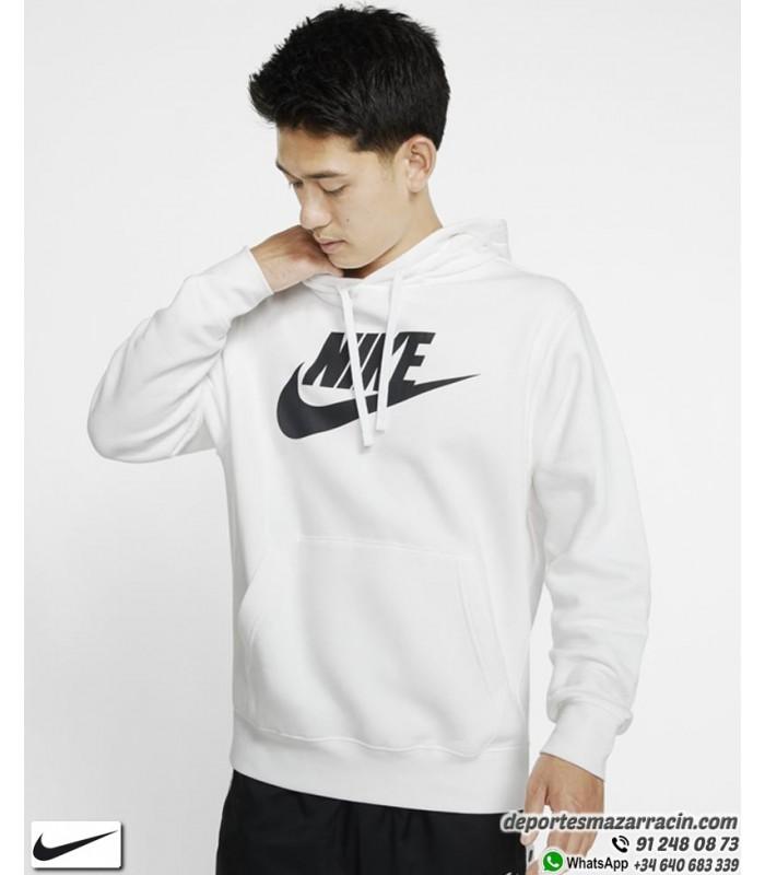 precio de fábrica venta caliente más nuevo moda mejor valorada Sudadera NIKE Sportswear Club Fleece Hombre Capucha blanco con Negro