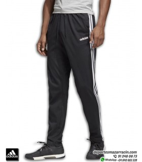Pantalón Chandal Ajustado ADIDAS hombre Negro rayas en blanco DU0456
