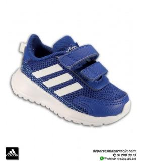 Zapatilla correr Niño pequeño ADIDAS TENSAUR RUN I velcro azul-blanco