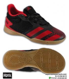 Bota de Fútbol PREDATOR 20.4 para Niños color rojo para futbol sala EF1979