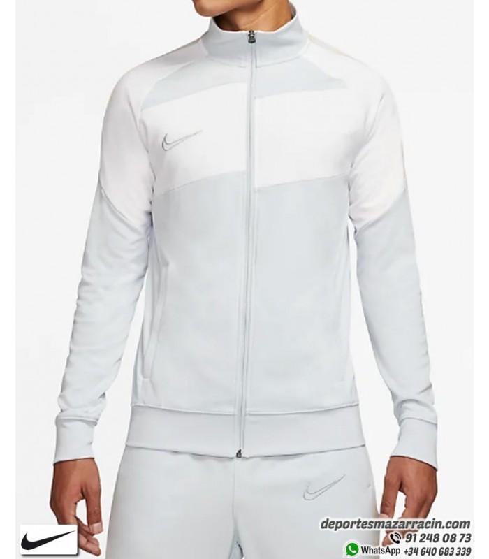 Remisión Máquina de recepción compartir  chaqueta NIKE Dri-FIT Academy Men's Soccer Hombre blanco con gris