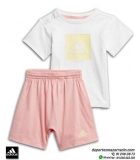 Conjunto LOGO SUMMER SET de ADIDAS para Niña bebe Camiseta + Short FM6380