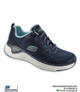 Deportiva Mujer Skechers SOLAR FUSE BRISK VIEW Azul marino 149051NVBL