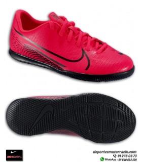 Fútbol Sala MERCURIAL VAPOR 13 Club niños rojo carmesi Nike AT8169-606