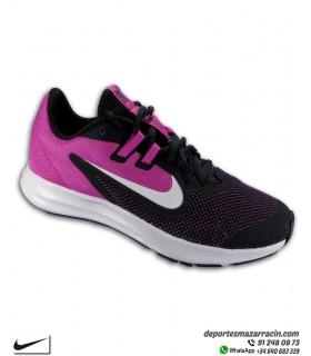 Zapatilla Nike para chicas DOWNSHIFTER 9 negro - rosa AR4135-016