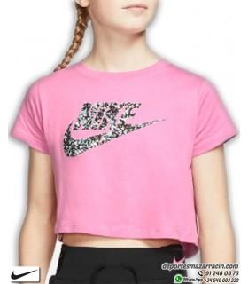 Camiseta NIKE CROP JDI FUTURA Rosa Chica CT2789-693
