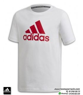Camiseta Junior ADIDAS YB MH BOS T blanco con rojo FQ7722