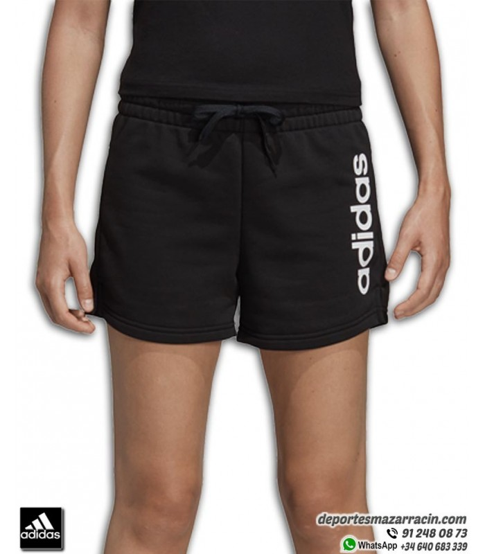 Pantalón Corto Mujer ADIDAS Essential Linear Short Negro