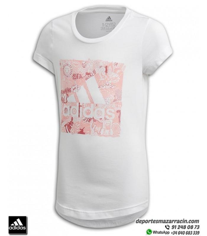 Baño Factura Emperador  Camiseta ADIDAS para Chica JG MH BOS BOX Blanca algodon FM4481