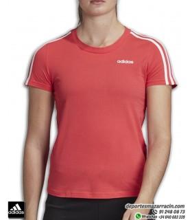 Camiseta ADIDAS Mujer Essential 3S SLIM TEE coral manga corta algodon FM6431
