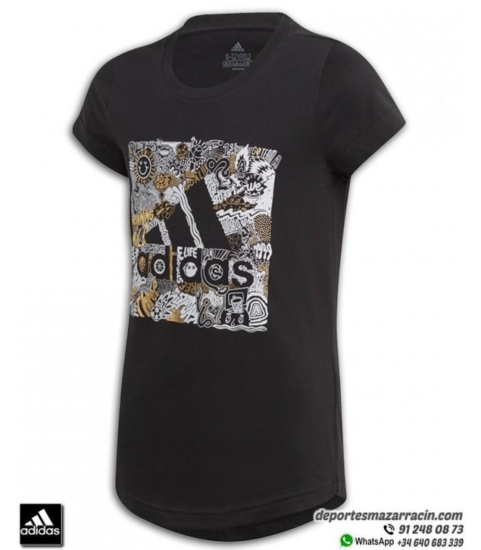 Relacionado Aplicado Templado  Camiseta ADIDAS para Chica JG MH BOS BOX Negro algodon FM4480