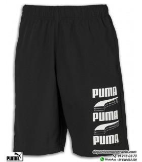 Pantalon Corto PUMA REBEL BOLD WOVEN SHORTS negro Junior 581571-01
