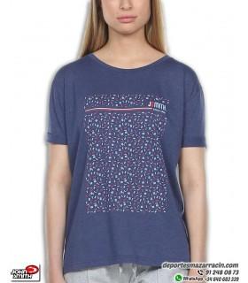 Camiseta Mujer John Smith KEBOS Azul Marino de algodon